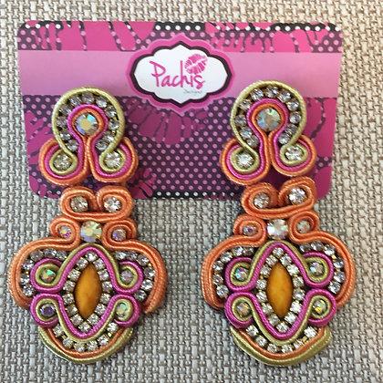 Aamira ( Orange, Pink &  Gold )