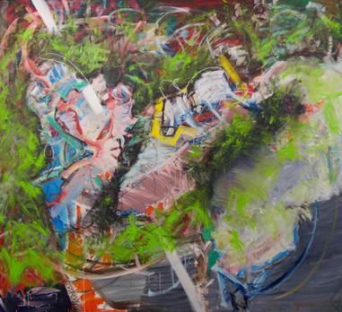 Oil on canvas 200 x 200 cm 2020
