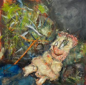 Oil on canvas 100 x 100 cm 2021