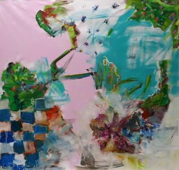Oil on canvas  200 x 200 cm 2019