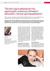 Artikel om unge kræftpatienter