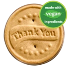 Shortbread cookies dipped in rich fudge and topped with an embossed thank you message in one of 5 languages.