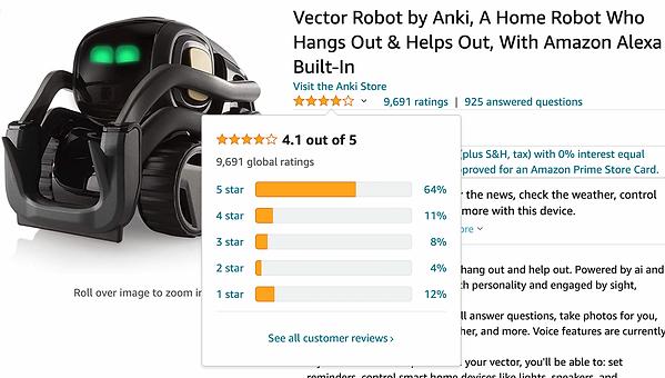 Vector on Amazon.com with 4 stars