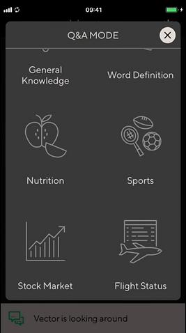 App screenshot of Q&A Mode
