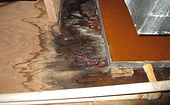 water damage to wood