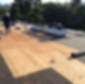 Replacing plywood on a flat roof