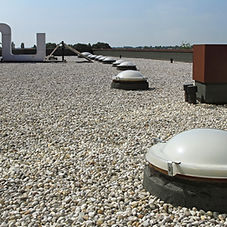 built-up roof with gravel