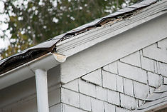 sagging, warped roof