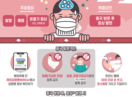 신종 코로나 바이러스 예방수칙