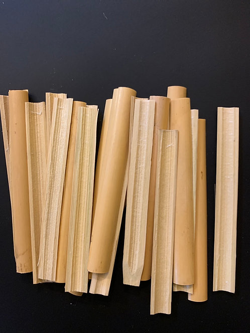 Mexican English Horn Cane, Split and Cut