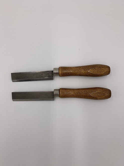 Set of 2 Right Hand Beveled Knives