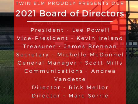 Welcome to the 2021 Board of Directors