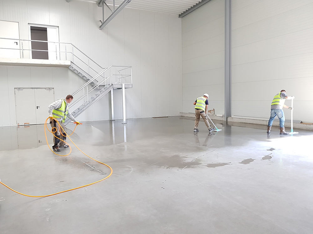 Industrial floor cleaning