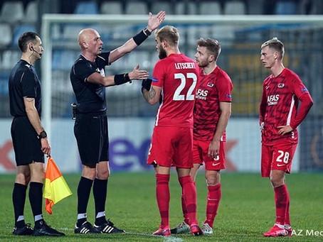 Дмитрий Мосякин и Сергей Карасев на матче группового этапа Лиги Европы