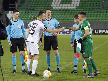 Дмитрий Сафьян на матче группового этапа Лиги Европы