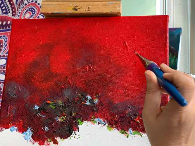 Nicolle's Red Abstract