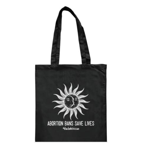 'Abortion Bans Save Lives' Black Tote Bag