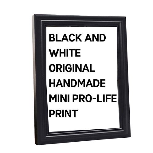 Mystery Merch - Original Mini Pro-Life Framed Print