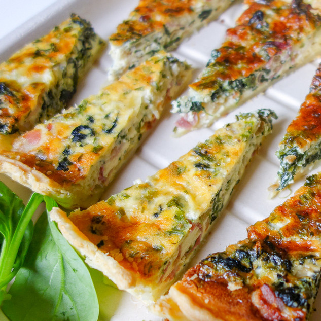 Spinach & Gruyere Quiche