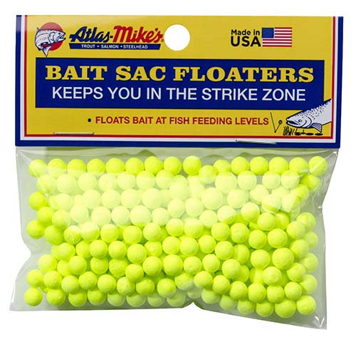 Atlas-Mike's Bait Sac Floaters   CHARTREUSE