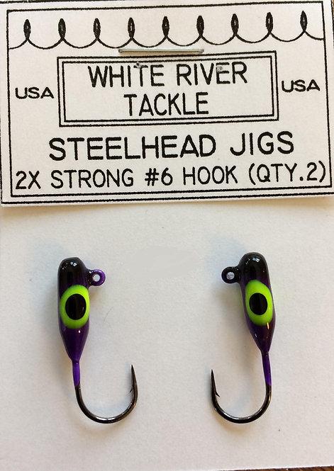 Steelhead Jig - Purple & Black Splash