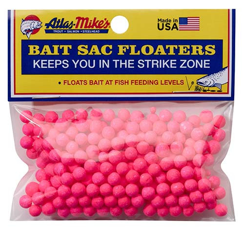 Atlas-Mike's Bait Sac Floaters   PINK