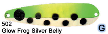 0502 Glow Frog, Silver Belly