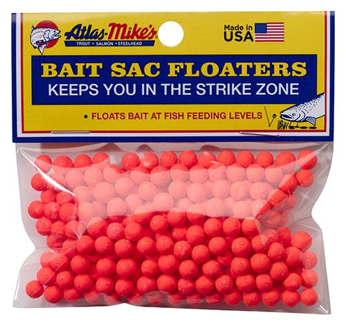 Atlas-Mike's Bait Sac Floaters   RED