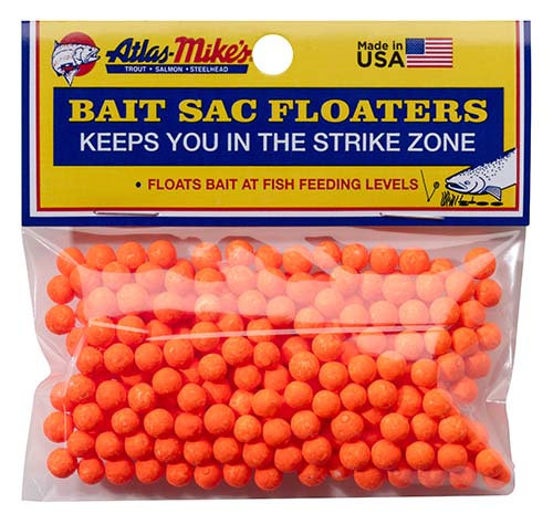 Atlas-Mike's Bait Sac Floaters - ORANGE