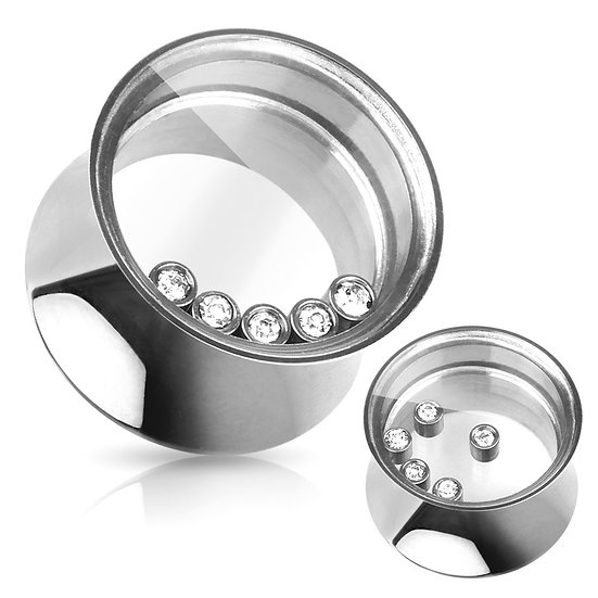SILVER SCREW SADDLE FIT TUNNEL PLUG SPACER