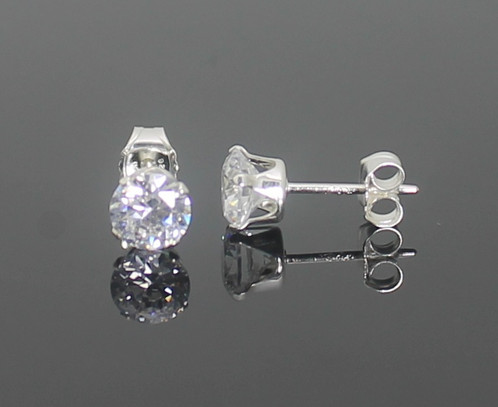 earring for baby silver gold of toddler earrings allezgisele stud luxury plated kids diamond children diamonds screwback new