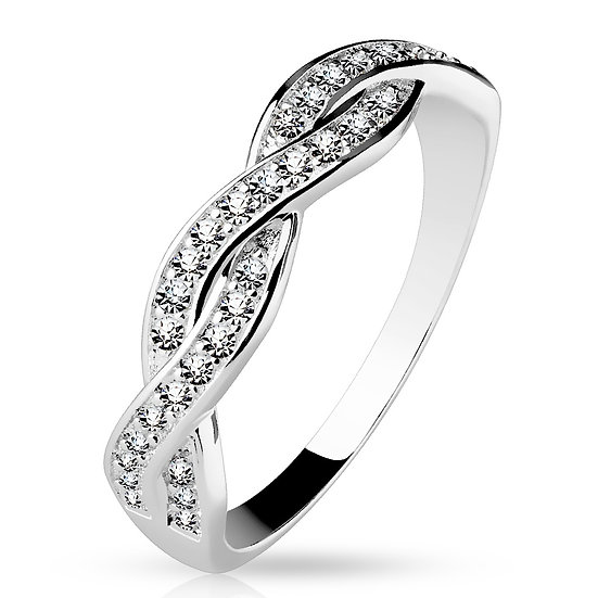 DIAMOND SOLID 925 STERLING SILVER INFINITE RING