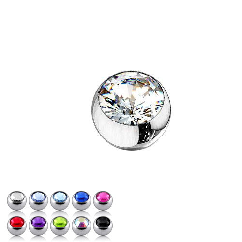 Small 2.5mm Coloured Surgical Steel Ball