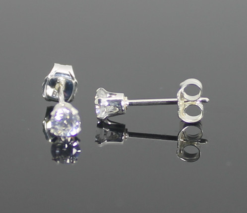 stud cz bling nose jewelry silver diamond