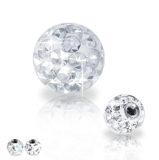 Crystal Surgical Steel Ball