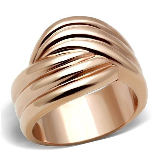18K ROSE GOLD TRIPLE ROW BAND RING