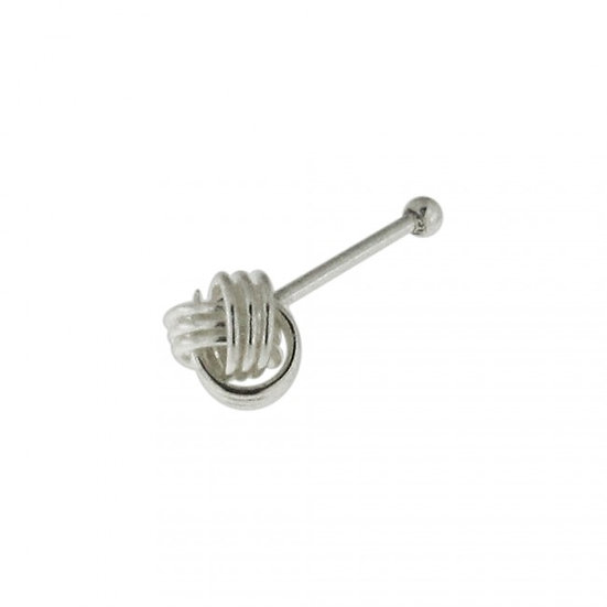 925 Sterling Silver Celtic Knot Nose Piercing Stud