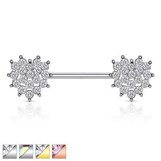 Love Heart Nipple Bar Ring