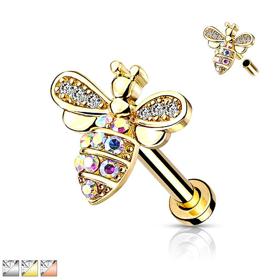 Bumble Bee Cartilage Stud