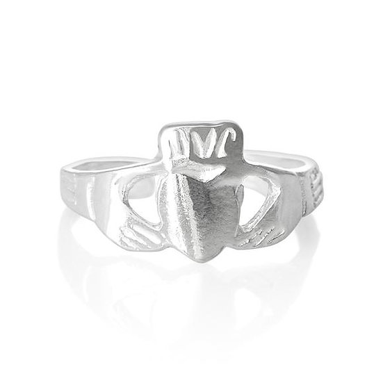 Real 925 Sterling Silver Claddagh Midi Toe Ring