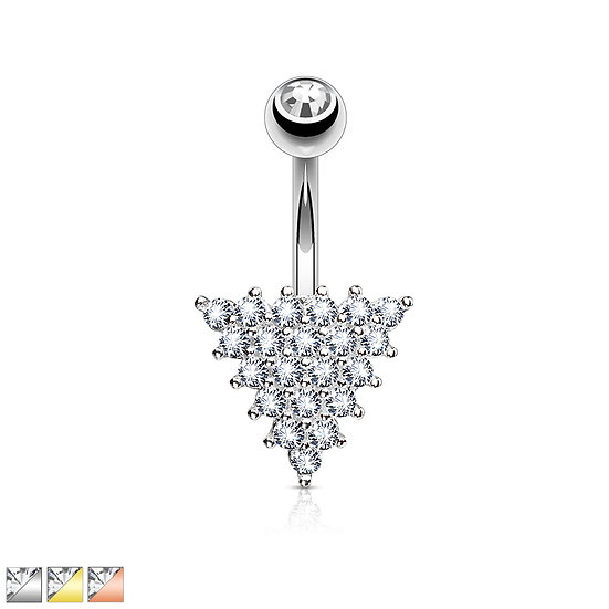 Diamond Triangle Belly Ring