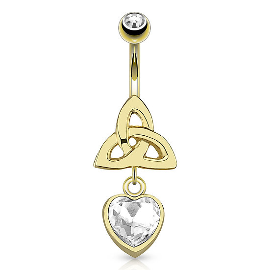 CELTIC TRIQUETRA GOLD BELLY BUTTON RING