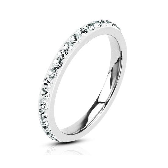DIAMOND ETERNITY SILVER BAND RING