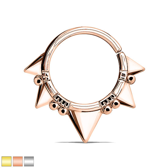 POINTED TRIANGLE SEAMLESS HOOP EAR SEPTUM RING
