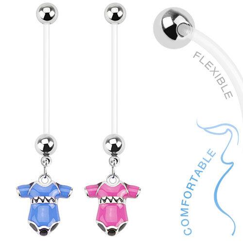 BABY ONESIE FLEXIBLE PREGNANCY BAR BELLY RING