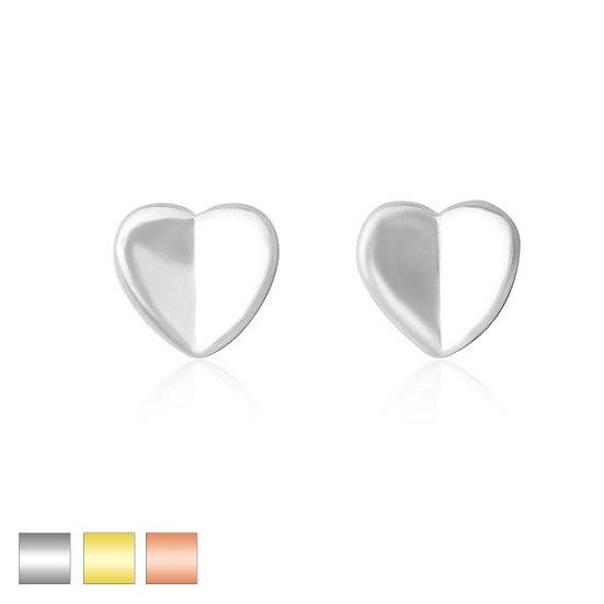 Love Heart Stud Womens Earrings
