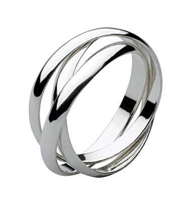 Three band wedding russian ring
