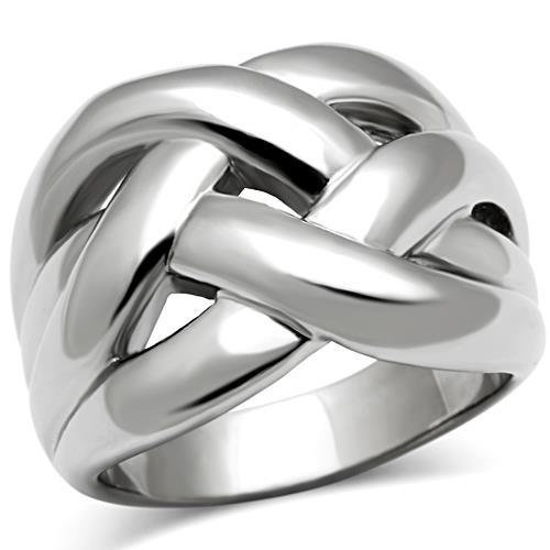 WEAVE WIDE BAND STAINLESS STEEL RING