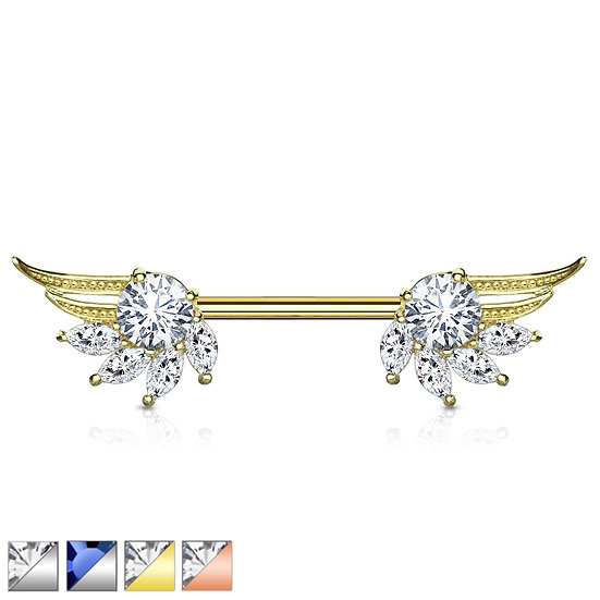 DIAMOND ANGEL WINGS NIPPLE BAR