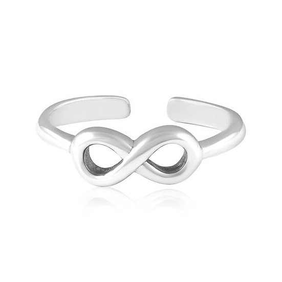 925 Sterling Silver Infinity Toe Midi Ring